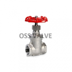 Gate Valve Threaded Type Handle Wheel Operation